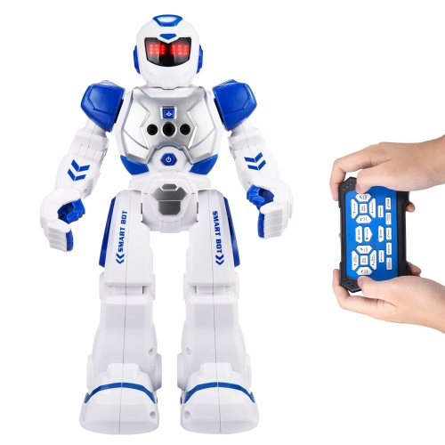 Robot di controllo a distanza per bambini - Robot AOSENMA RC con luci a LED, giocattoli a infrarossi per il controllo dei robot, canto, danza, conversazione, due modelli di camminata, gesta dei sensi, robot di rilevamento dei gesti, blu