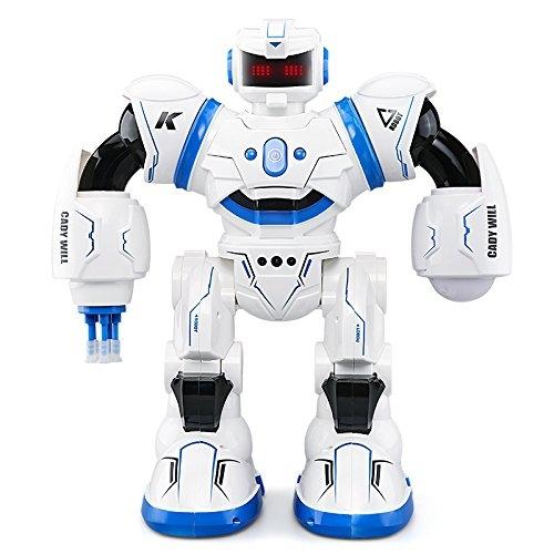 3C-LIFE 2018 Telecomando RC Robot Giocattoli per ragazzi e ragazze, Camminare interattivo cantando Ballando Smart Robotics per Gesto programmabile Sensing Robot Kit-Blue