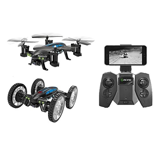 Cewaal Flying Car RC Quadcopter Drone, Veicoli a volo senza testa Mode Design unico giocattolo per bambini