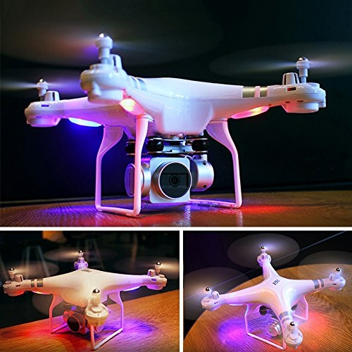 Cewaal WIFI FPV versione SH5 Drone con videocamera HD 720p, modalità senza testa Quadcopter con motore Brushless Lungo tempo di volo Drone per principianti