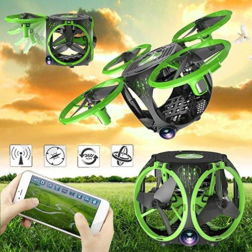 Cewaal FQ26 Mini Foldable WiFi FPV Drone with Wide Angle Camera Live Video ,Altitude Hold Hover Drone RC Quadcopter For Kids