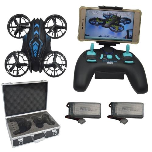 Blomiky JXD 515W WIFI Ufo Altitude Quadcopter Drone con FPV Camera Extra 2 Batteria e custodia 515W Blu con scatola