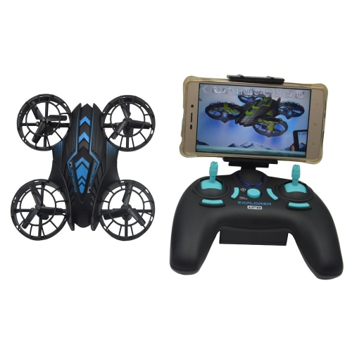 Blomiky JXD 515W WIFI UFO Altitude Quadcopter Drone With FPV Camera Extra 2 Battery and Carrying Case 515W Blue with Box