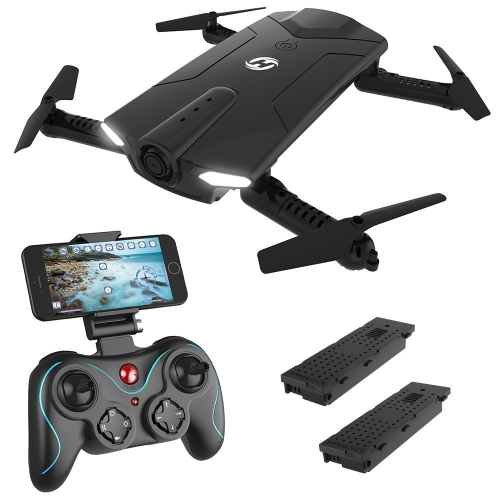 Holy Stone HS160 Shadow FPV RC Drone z kamerą 720P HD Wi-Fi Live Video Feed 2.4GHz 6-osiowy Quadcopter Gyro dla dzieci i początkujących - trzymanie wysokości, uruchamianie z jednym klawiszem, składane ramiona, akumulator dodatkowy