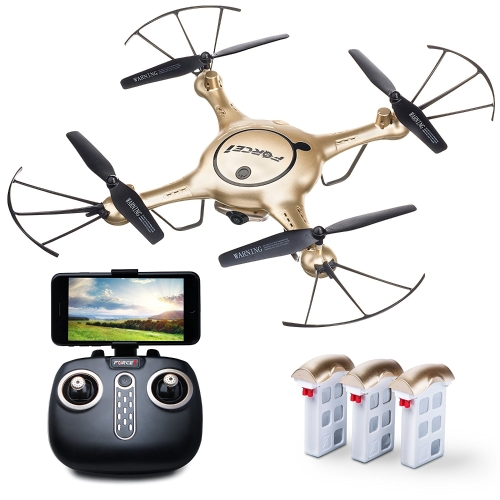 Force1 X5UW drones avec alimentation en direct caméra Altitude Hold 1-Key Control Headless 360 Flips LED débutants Quadcopter