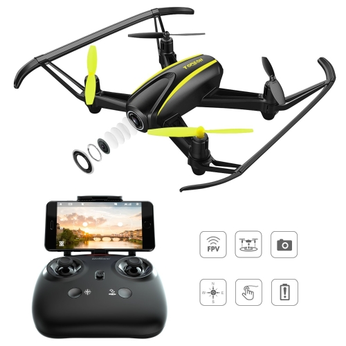 Drone with HD Camera, Tomzon T25 WIFI FPV Navigator RC Quadcopter with 120° Wide-Angle 720P Camera, Altitude Hold, Headless Mode, One Button Take Off and Landing, Emergency Stop