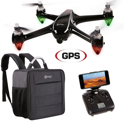 VALENTINES SALE! Contixo F18 Advanced GPS Assisted RC Quadcopter 1080P HD Live FPV Wifi Video Camera Drone Smart RTH Hovering Brushless Motors (Include Carrying Back Pack $80 Value) - Best Gift