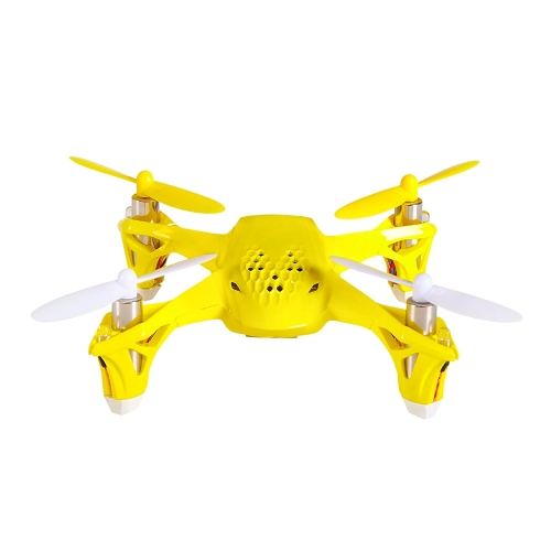 Tekstra Hubsan Spyder Micro Drone RC Quadcopter, Beginner Drone with Remote Controller, Magnetic Yellow