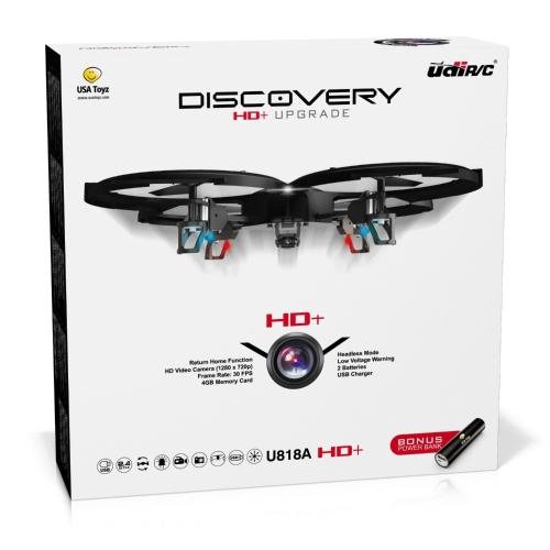 Force1 UDI U818A Camera Drone per bambini - Drone HD con fotocamera per principianti - Droni telecamera 720p RC w / 360 ° Flip e batteria supplementare