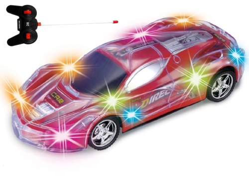 Haktoys Light Up RC Car for Kids, Boys & Girls with Spectacular Flashing LED Lights
