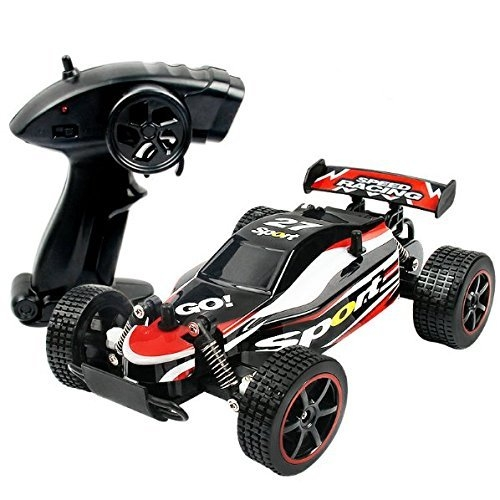 KingPow RC Car Rock Off-Road vehículo Crawler Truck 2.4Ghz Radio control remoto 2WD de alta velocidad 1:20 Racing Cars (rojo)