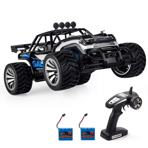 KOWLENEEL Elektro-RC Car Off-Road-Autos 2,4 GHz Radio-Fernbedienung Truck Monster 1:16 Scale 2WD-Hochgeschwindigkeits-Crawler USB-Ladegerät Auto mit 2 Akku