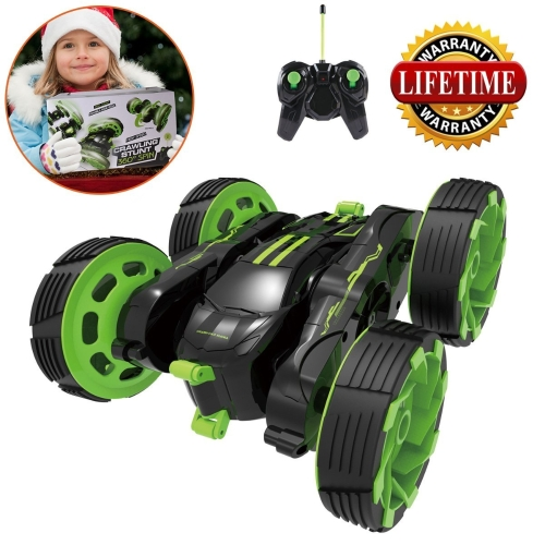 RC Stunt Car, Radio Control Racing Car 4 canales de doble cara de 360 ​​grados Spins Stunt Actions Cool Styling Vehicle con luces LED de juguetes de regalo para niños