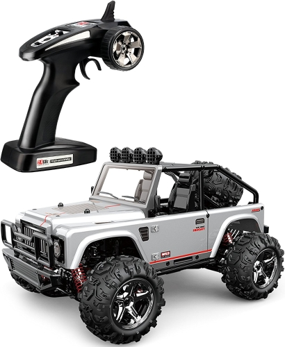 TOZO C1153 RC CAR Battleax Alta velocidad 30km / h 4x4 Fast Race Cars 1:22 RC SCALE RTR Racing 4WD ELECTRIC POWER BUGGY W / 2.4G Radio control remoto Off Road Powersport gris