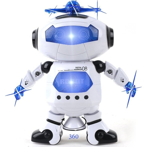 Robot da ballo Kidsthrill - Luci lampeggianti musicali e colorate Kids Fun Toy Figure - Spins And Side Steps