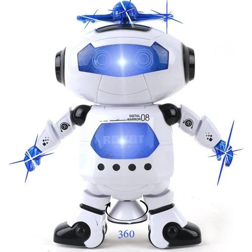 Kidsthrill tanzender Roboter - musikalische und bunte blinkende Lichter scherzt Spaß-Spielzeug-Abbildung - Spins und Seitenschritte