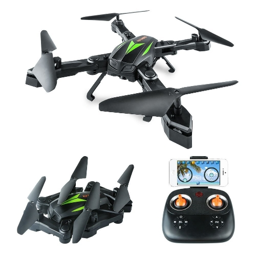 AKASO A200 WiFi Foldable Quadcopter Drone com 720P HD 2MP Camera FPV APP Live Video 6-Axis Gyro 2.4GHz One Key Return RC Drones para crianças Iniciantes Adultos