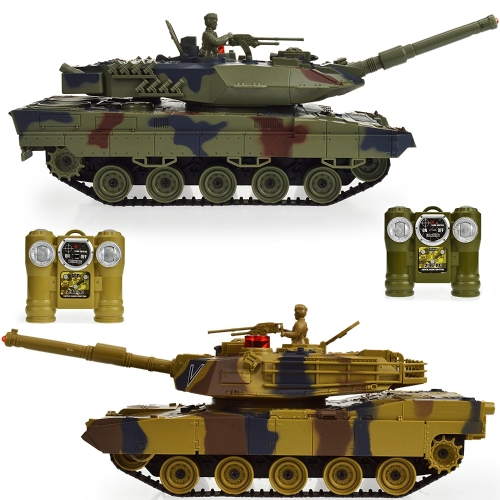 Dynasty Toys Laser Tag Tanks - LED Battling Tanks Toys - Set of 2 RC Tanks with Infrared Remote Control RC Car Capabilities - Battle Tanks Keep Score / Register When Hit
