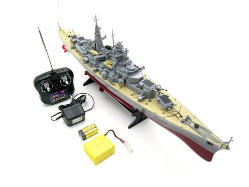 "German Bismarck Military Battleship 1/360 RC 28 ""Navio de guerra R / C Cruiser"