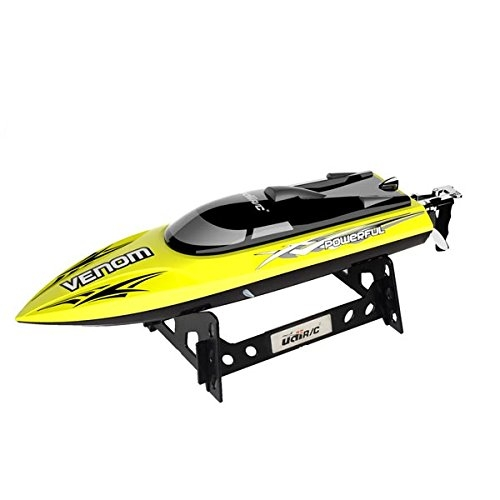 UDI001 Venom Remote Control Boat: for Pool & Outdoor Use– RC Racing Boat with Remote Control; Force1 High-Speed Series RC Boats for Adults & Kids + Bonus Battery