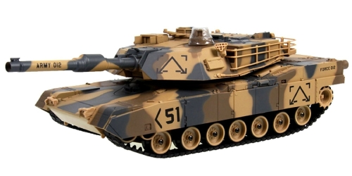 "M1A2 Abrams USA Battle Tank RC 16 ""Airsoft Militaire Vechile - Camouflage Desert"