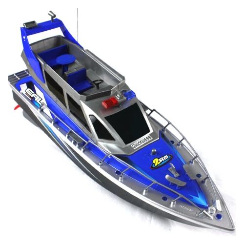 Polizia Speed RC Barca elettrica full-function di grande dimensione a 4 canali Patrol Craft Imbarcazione telecomandata con batterie ricaricabili