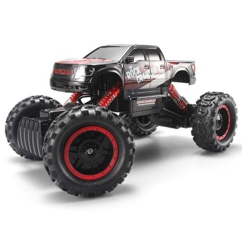 AHAHJJ RC Auto fuoristrada Rock Crawler 2.4Ghz 4WD Veicolo telecomandato 1/14 Electric Racing Monster Truck con fari a LED