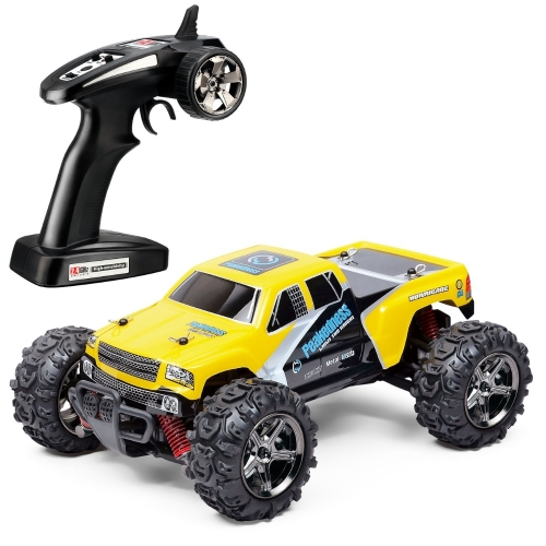 TOZO C1132 RC CAR ad alta velocità 30MPH 4x4 Fast Race Cars1: 24 RC SCALE RTR Racing 4WD ALIMENTAZIONE ELETTRICA BUGGY W / 2.4G Radio Telecomando Off Road Pickup Powersport giallo