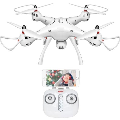 DoDoeleph Syma GPS Drone X8Pro One Key Return Home Quadcopter UFO aggiornato con telecamera grandangolare HD 720P regolabile grandangolare- Seguimi