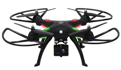 Image of 1080P Camera Drone,Holy Stone HS300 RC Quadcopter with 120° Wide-angle HD Camera 6-Axis gyro 2.4 GHz with Altitude hold, One Key Return and Headless Mode Function RTF Includes Bonus Battery