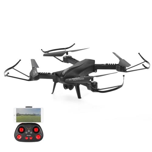 Physport pieghevole RC Drone 2.4 GHz 6 assi Gyro Quadcopter con fotocamera Wifi FPV APP Controllo Altitudine Hold modalità senza testa (rosso)