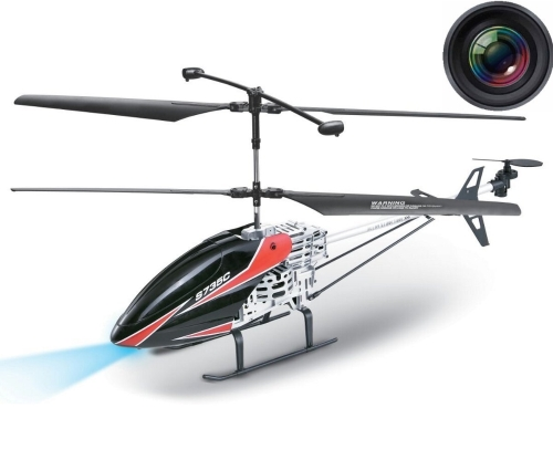 "Haktoys S735C 2.4GHz Large 30 ""Video & Photo Camera 3.5CH RC Helicopter, Giroscopio, ricaricabile, pronto a volare e con luci a LED (Micro SD Card inclusa)"