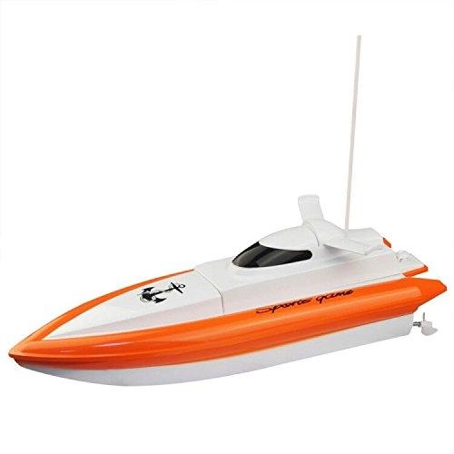 KingPow Remote Control Boat funziona solo in acqua Rc Boat- Orange