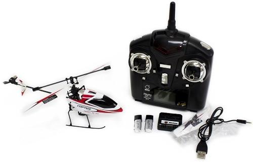 Nuovo elicottero WL V911 4 CH singolo rotore versione 2 rosso / bianco di WE-R-KIDS