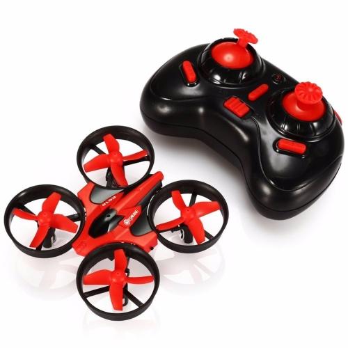 EACHINE E010 Mini UFO Quadcopter Drone 2.4G 4CH 6 Axis Modalità Headless Telecomando Nano Quadcopter Modalità RTF 2 (Rosso)