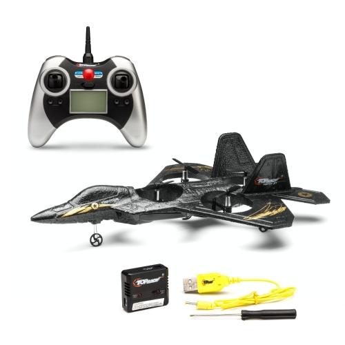 Top Race F22 Jet aereo da combattimento a controllo remoto, quadricoptero a 4 canali con tecnologia a giroscopio a 3 assi