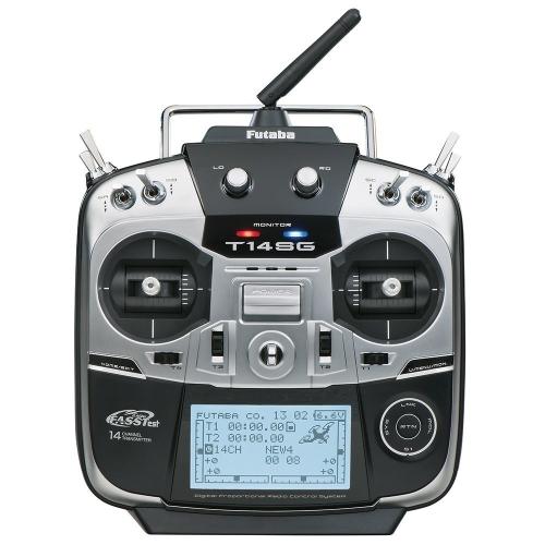 Trasmettitore di volo radiocomandato computerizzato Gigahertz a due punti a quattro canali Futaba 14SGH con ricevitore R7008SB FASSTest Telemetry Receiver
