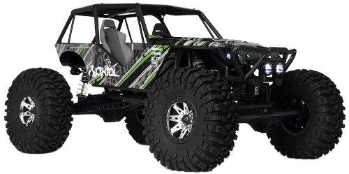 Axial Wraith 4WD RC Rock Racer 4x4 fuoristrada elettrico pronto a correre con radio a 2,4 GHz e kit luci a LED, scala 1/10 RTR