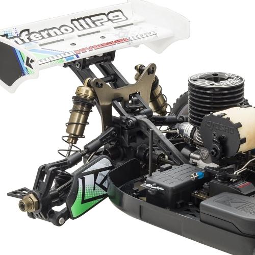 kyosho inferno mp9 tki ready set rtr nitro-powered racing buggy (1:8 scale)