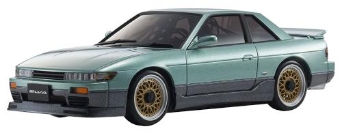 Kyosho Mini-Z MA-020 AWD Sport verde metallizzato Nissan Silvia S13 Aero Micro RC auto con luci a LED