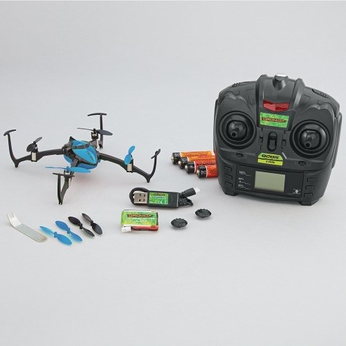 Dromida Verso Ready-To-Fly Radio Controlled Electric-Powered Inversion Drone with Radio System, Batteries and Charger (Blue)