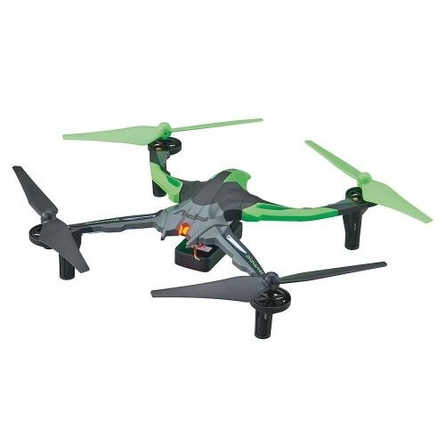 Dromida Ominus First-Person View (FPV) Bezzałogowy statek powietrzny (UAV) Quadcopter Ready-to-Fly (RTF) Dron z systemem radiowym, baterie i ładowarka USB (zielony)