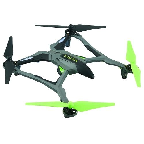 Беспилотный летательный аппарат Dromida Vista (БПЛА) Quadcopter Ready-to-Fly (RTF) Drone с радиосистемой, батареями и USB-зарядным устройством (зеленый)
