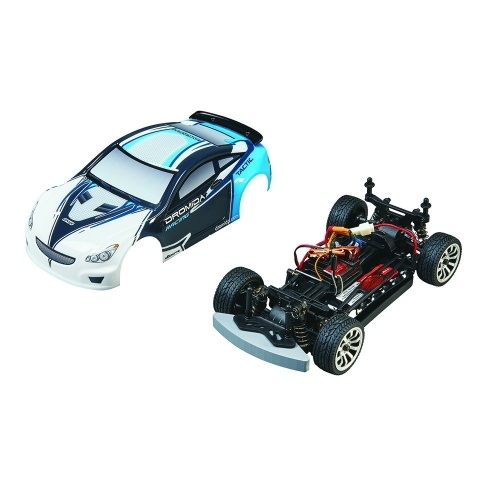 Dromida 1:18 Scale RTR Remote Control RC Car: Brushless Electric 4WD TC Touring Car with 2.4GHz Radio, 7.2V 6C 1300mAh NiMH Rechargeable Battery, 4 x AA Batteries and Charger