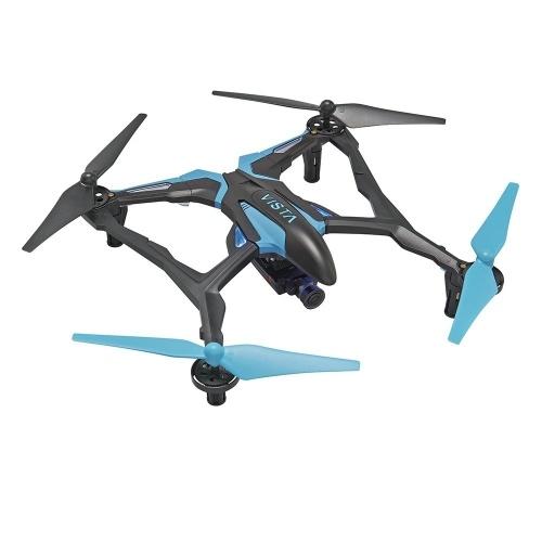 Dromida Vista FPV Ready-to-Fly Elektryczny dron 251 mm z taktyczną kamerą DroneView 720p Wi-Fi, radiem, kartą pamięci Micro, bateriami i ładowarką (niebieski)