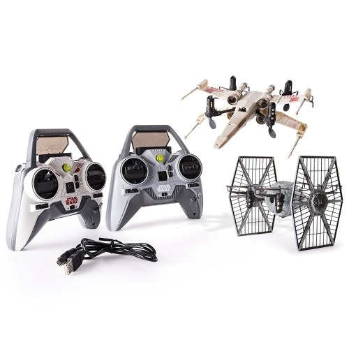 Air Hogs - Star Wars X-wing kontra TIE Fighter Drone Battle Set