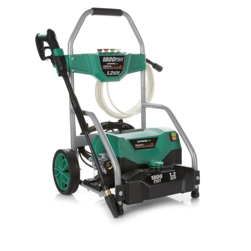 Lavadora a presión Earthwise PW18004FS-GN 1800 PSI a 1.2 GPM y 13 amperios, verde