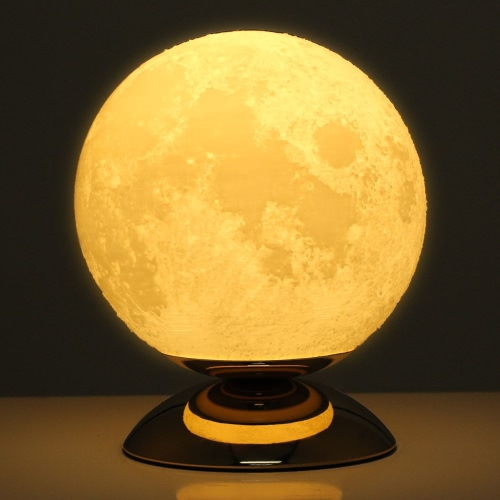 Lámpara de Luna Lámpara 3D Lámpara US Plug AC110-250V 50 / 60Hz
