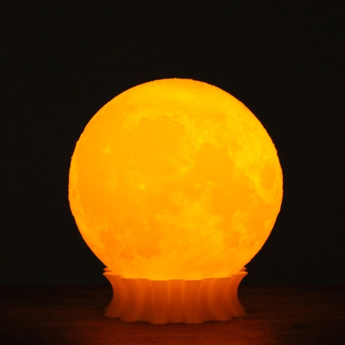 Tooarts 3D imprimé Moon Lamp Decor Lighting Gift US Plug AC100-240V 50 / 60Hz