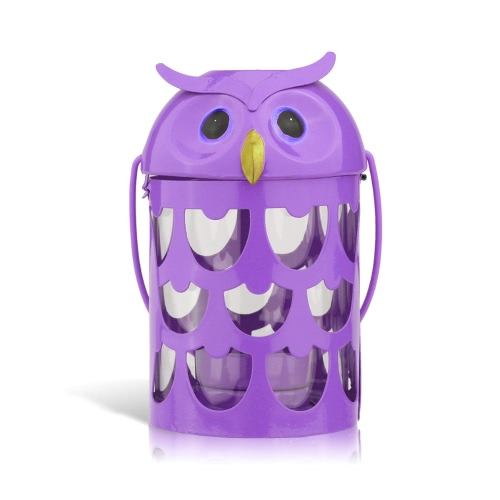 Tooarts Owl candle holder(purple) Hurricane lamp Practical ornament Creative ornament  Home Furnishing Articles